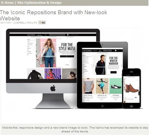 the iconic repositions brand with new-look website