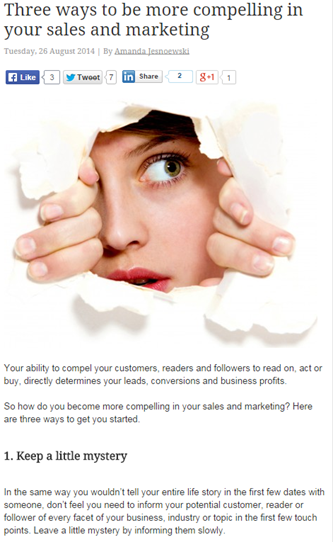 Three Ways to be more compelling in your sales and marketing